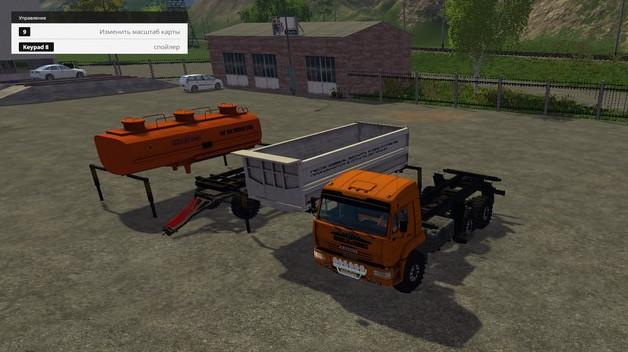 Русская техника для Мод грузовик КамАЗ-45143 v1.1 для Farming Simulator 2015