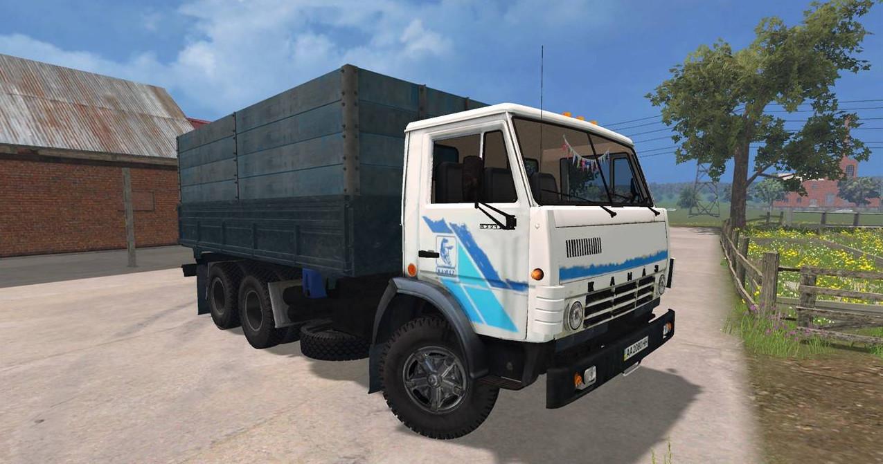 Русская техника для Мод грузовик КамАЗ 5320 v2.0 для Farming Simulator 2015