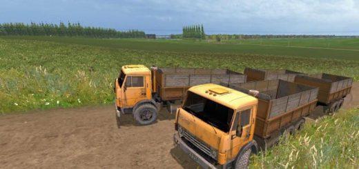 Русская техника для Мод грузовик Камаз 55102 с прицепом для Farming Simulator 2015