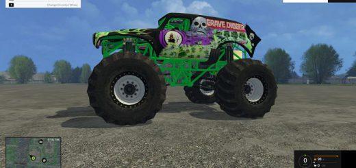 Машины для Мод машина Grave Digger для Farming Simulator 2015
