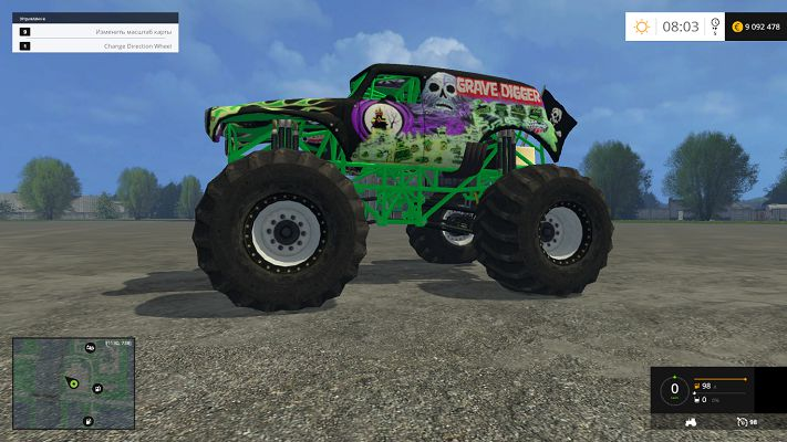 Машины для Мод машина Grave Digger для Farming Simulator 2015