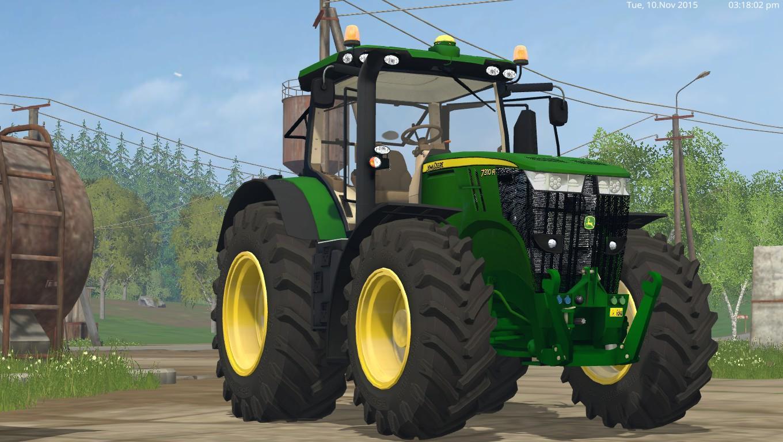Тракторы для Мод трактор John Deere 7310R для Farming Simulator 2015