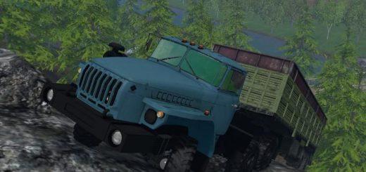 Русская техника для Мод грузовик УРАЛ 4320-1921-60М для Farming Simulator 2015