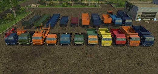 Русская техника для Мод КамАЗ Пак v2.0 для Farming Simulator 2015