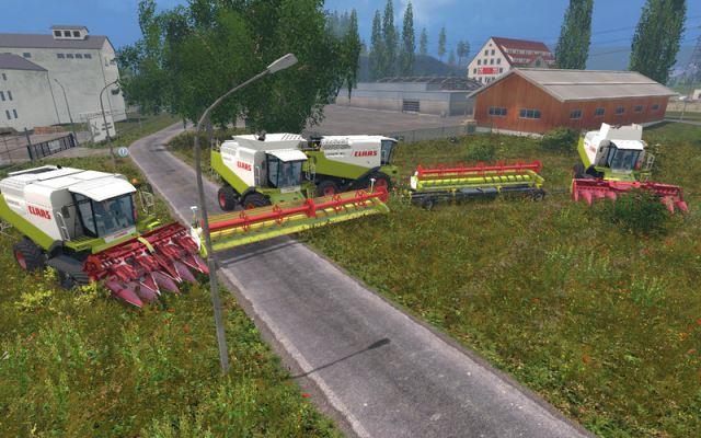 Комбайны для Мод-пак комбайнов «Claas Lexion 580/600 v 1.6» для Farming Simulator 2015
