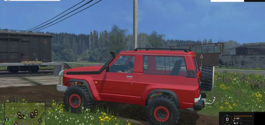 Машины для Мод машина Nissan Patrol GR для Farming Simulator 2015