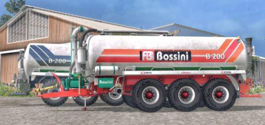 Техника для удобрений для Мод цистерна BOSSINI B200 v 3.0 для Farming Simulator 2015