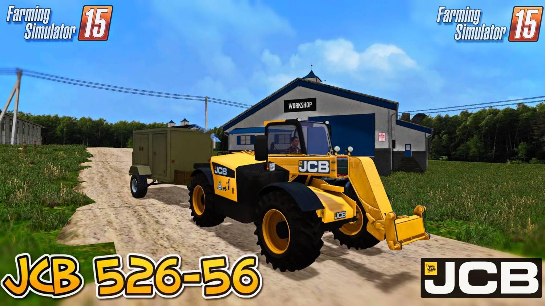 Погрузчики для Мод погрузчик JCB 526-56 для Farming Simulator 2015