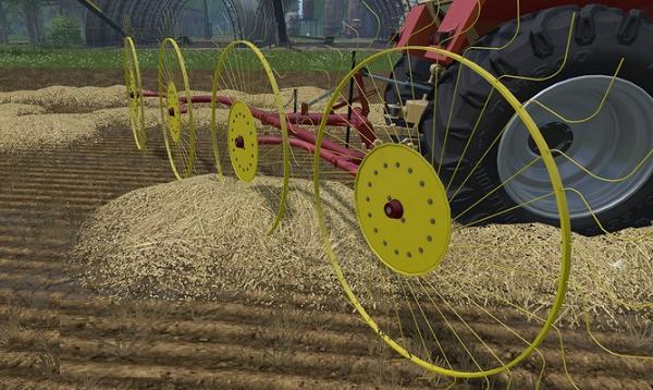 С/Х инвентарь для Мод сеноворошилки Zagrabiarka 4 Gwiazdowa v 1.0 для Farming Simulator 2015