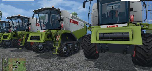 Комбайны для Мод-пак комбайнов «Claas lexion 580/600» для Farming Simulator 2015