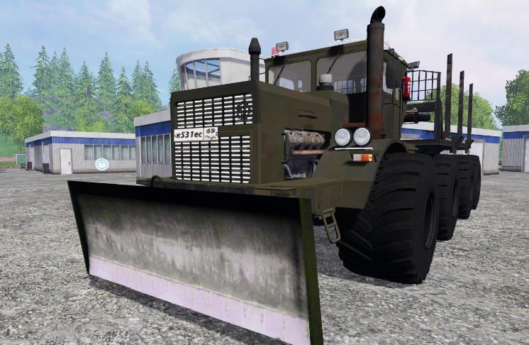 Русская техника для Мод трактор КИРОВЕЦ K-700 MILITARY V1.0 для Farming Simulator 2015