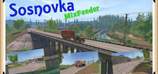 Карты для Карта «Сосновка Mix Feeder v 1.0» для Farming Simulator 2015