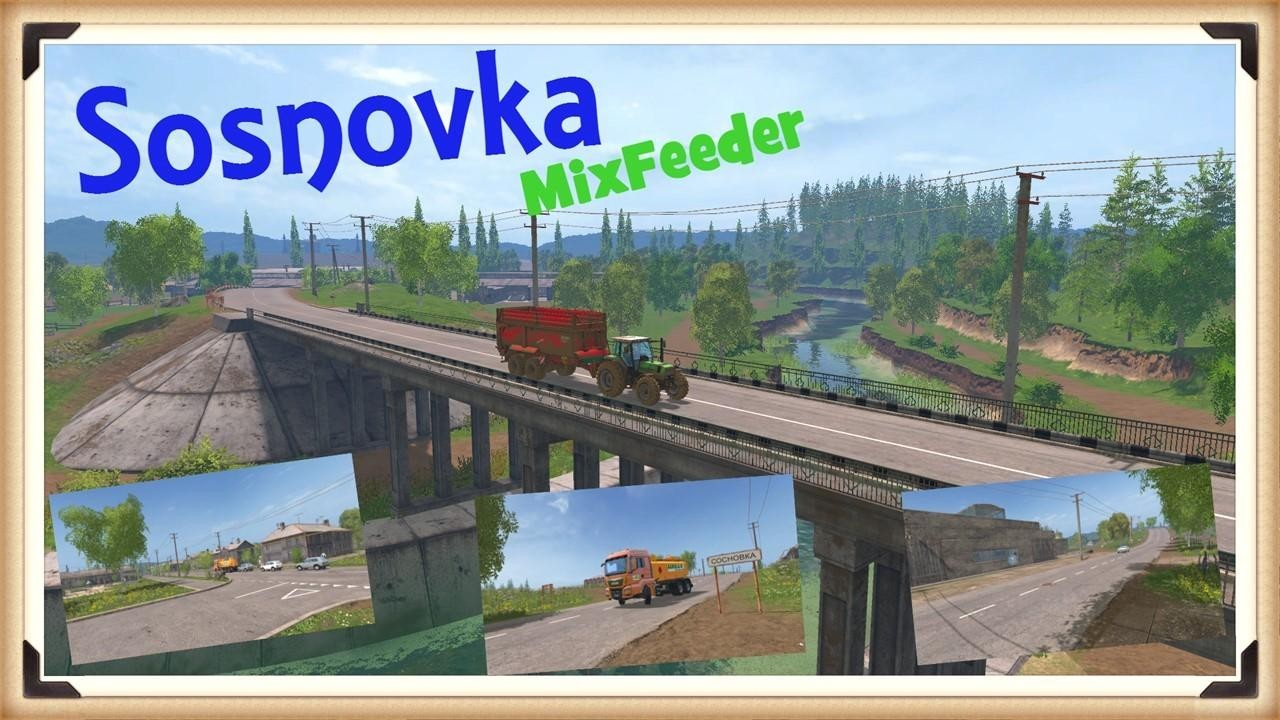Карты для Карта «Сосновка Mix Feeder v 1.0» для Farming Simulator 2015