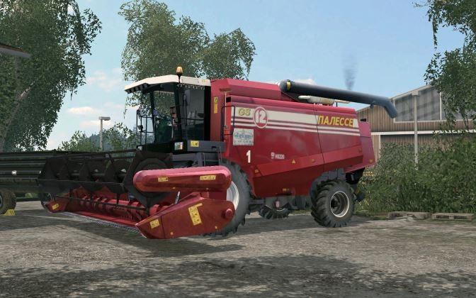 Русская техника для Мод комбайн Палессе GS-12 v 1.0 для Farming Simulator 2015