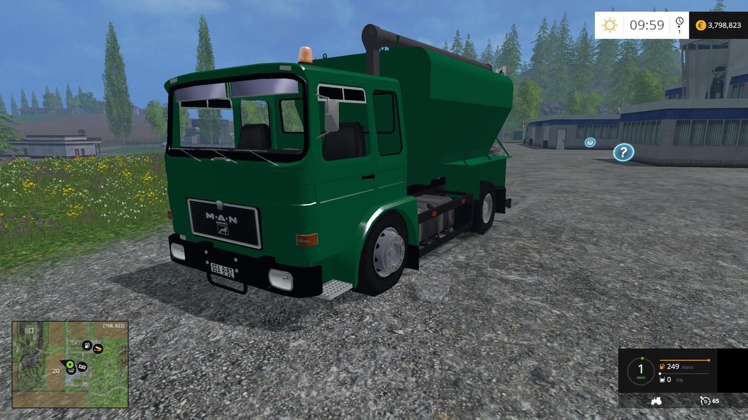 Грузовики для Мод грузовик MAN F8  для Farming Simulator 2015