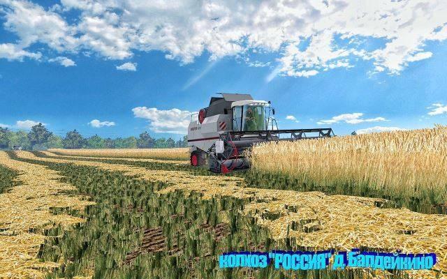 Русские карты для Русская карта «Колхоз «РОССИЯ» д. Балдейкино» для Farming Simulator 2015