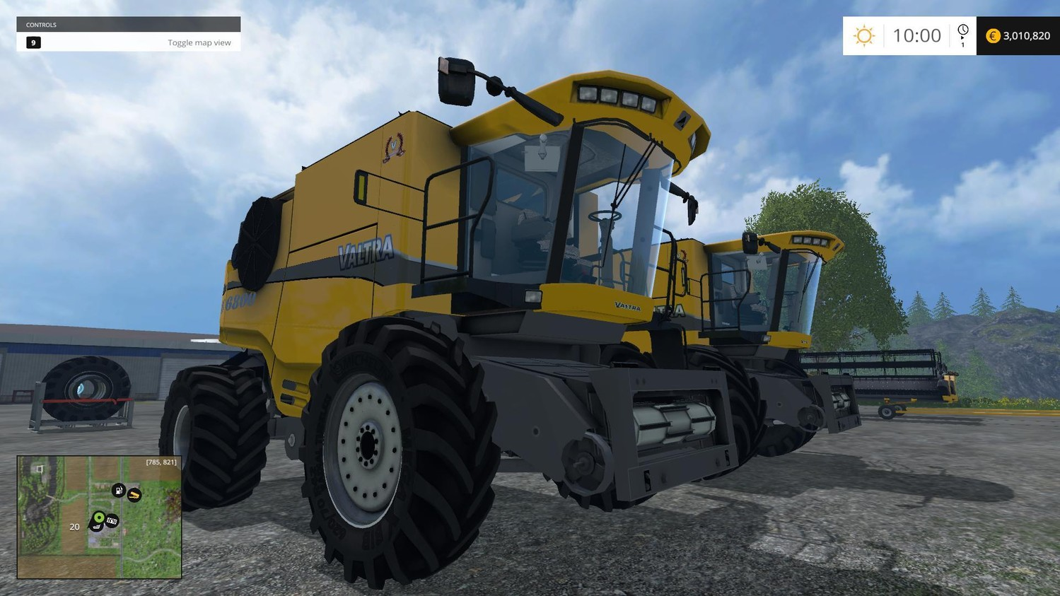 Комбайны для Мод комбайн VALTRA 6800 V1.2 для Farming Simulator 2015