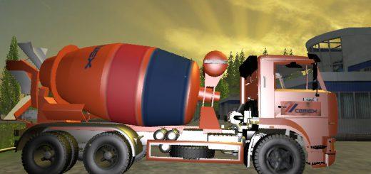 Русская техника для Мод бетономешалка КамАЗ 5460 для Farming Simulator 2015