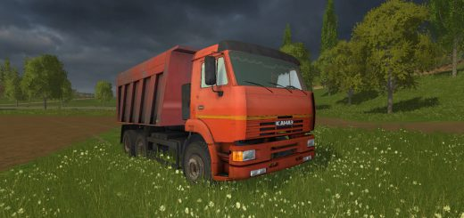 Русская техника для Мод грузовик-самосвал «КамАЗ 6520 v2.0» для Farming Simulator 2015