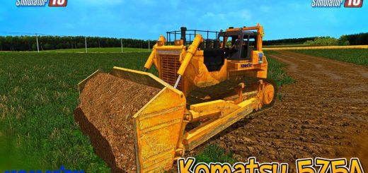 Погрузчики для Мод погрузчик Komatsu 575 A для Farming Simulator 2015