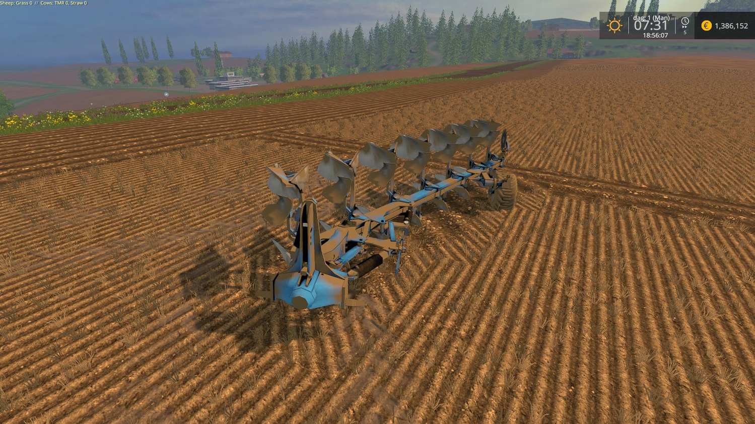 С/Х инвентарь для Мод плуг Lemken Juwel 8 v1.02 для Farming Simulator 2015