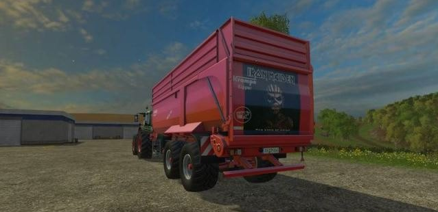 Прицепы для Мод прицепа Krampe Bandit 750 Iron Maiden Edition v 1.0 для Farming Simulator 2015