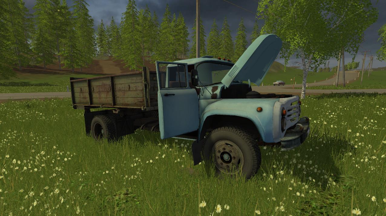 Русская техника для Мод грузовик Зил 130 v 1.0 для Farming Simulator 2015