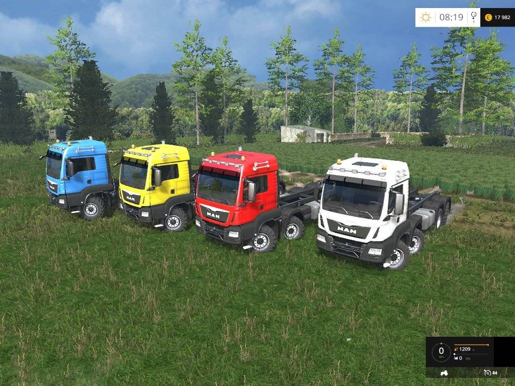 Грузовики для Мод грузовик Man Agrar 8×8 v 3.0 Multicolor для Farming Simulator 2015