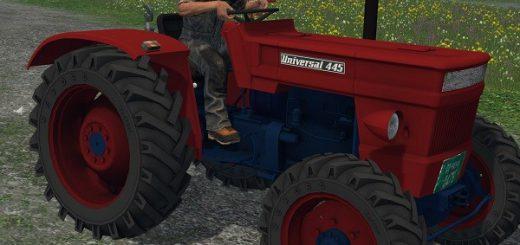 Тракторы для Мод трактор UNIVERSAL 445 DT v 1.0 (без кабины) для Farming Simulator 2015