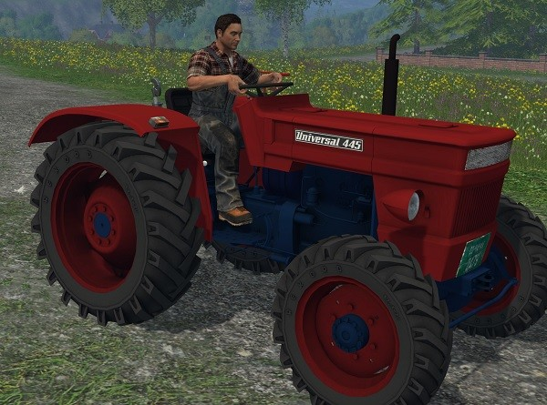 Тракторы для Мод трактор UNIVERSAL 445 DT v 1.0 (без кабины) для Farming Simulator 2015