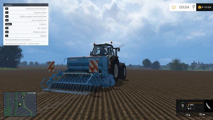 Сеялки для Мод сеялки Lemken Saphir 8 v 1.0 для Farming Simulator 2015