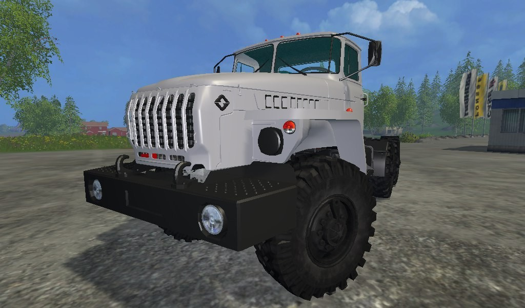 Русская техника для Мод грузовик УРАЛ 44202-0311-72М v 1.0 для Farming Simulator 2015