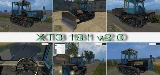Русская техника для Мод гусеничный трактор XTZ 181 v 2.0 для Farming Simulator 2015