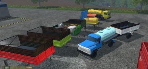 Русская техника для Мод-пак грузовиков Каз 4540 v 1.0 для Farming Simulator 2015