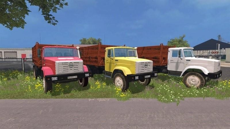 Русская техника для Мод грузовика ЗиЛ 4516 v2.0 для Farming Simulator 2015