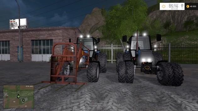 Русская техника для Мод-пак тракторов МТЗ 1025 для Farming Simulator 2015