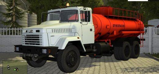 Русская техника для Мод грузовик-бензовоз «КРАЗ» для Farming Simulator 2015.