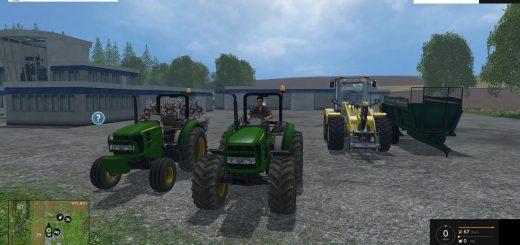 Тракторы для Мод-пак тракторов John Deere 5055 v 2.0 для Farming Simulator 2015