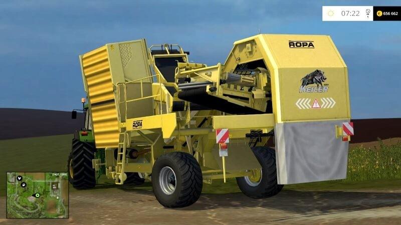 Комбайны для Мод «Картофелеуборочный комбайн» для Farming Simulator 2015