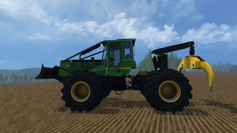 Погрузчики для Мод погрузчик John Deere 748H для Farming Simulator 2015