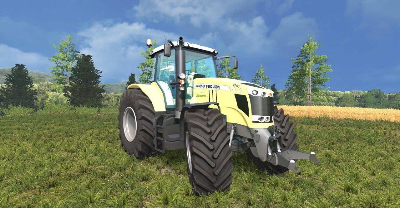 Тракторы для Мод трактор Massey Ferguson 7726 Krone Edition v1.0 для Farming Simulator 2015