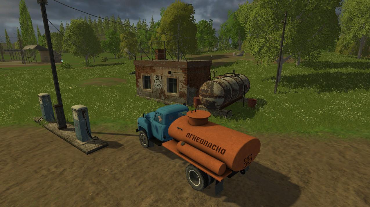 Русская техника для Мод ГАЗ-53 и АЗС для Farming Simulator 2015