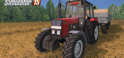 Русская техника для Мод трактор МТЗ-892.2 v 2.0 для Farming Simulator 2015