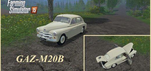 Русская техника для Мод машина ГАЗ-М20Б v 1.0 для Farming Simulator 2015