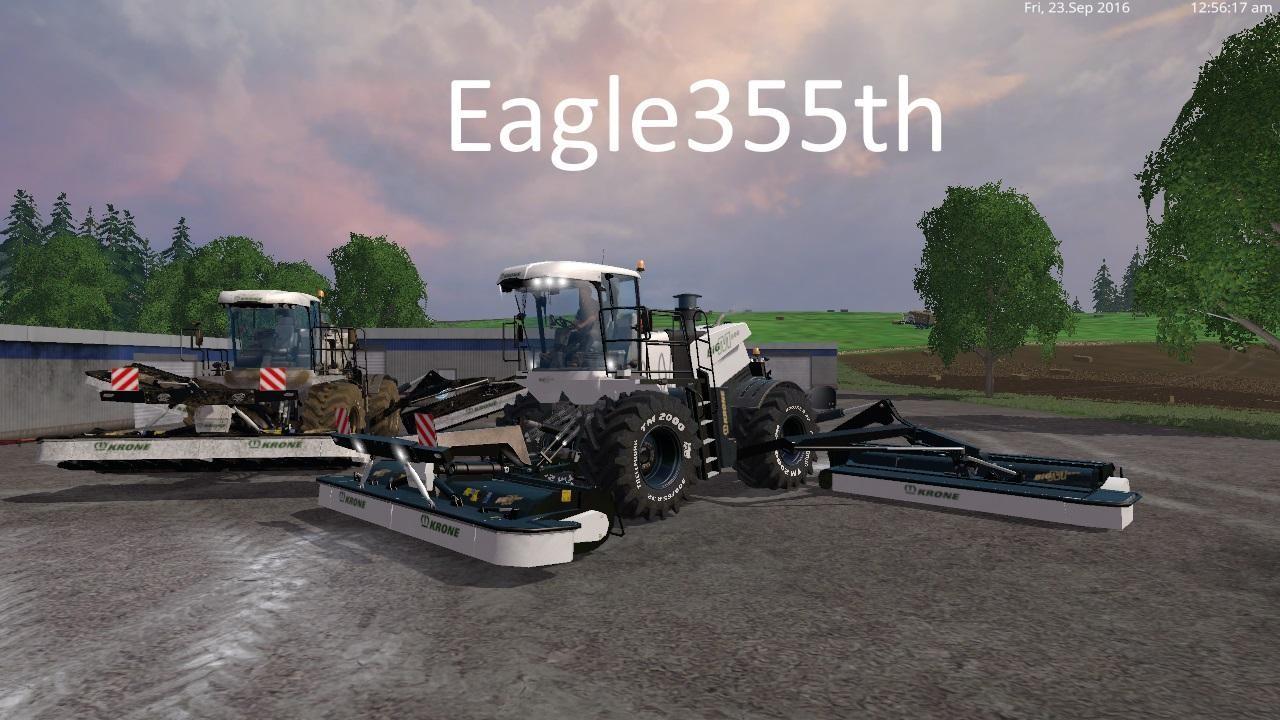 Косилки для Мод комбайн-косилка «Krone BiG M500 v 1.5» для Farming Simulator 2015