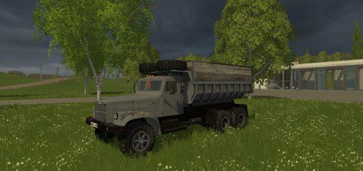 Русская техника для Мод грузовик «КрАЗ 256Б» v1.2 для Farming Simulator 2015