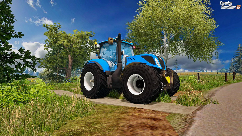 Тракторы для Мод трактор  New Holland T7.270 T4B v1.0 для Farming Simulator 2015