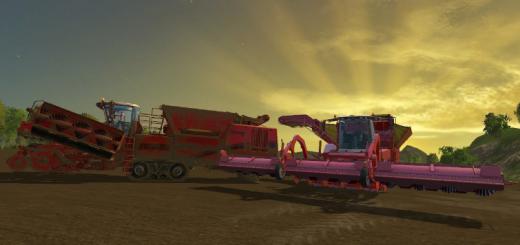 Комбайны для Мод комбайн для уборки картофеля Tectron 415 multicolor в игру Farming Simulator 2015.