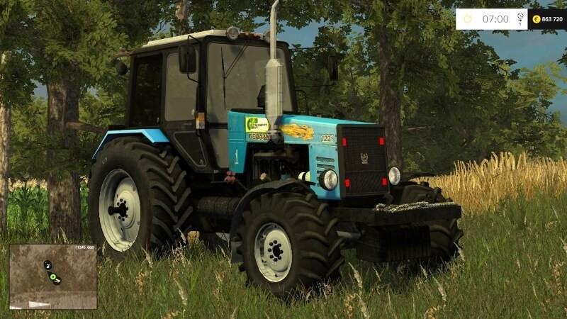 Русская техника для Мод трактор Беларус МТЗ 1221 V4 для Farming Simulator 2015