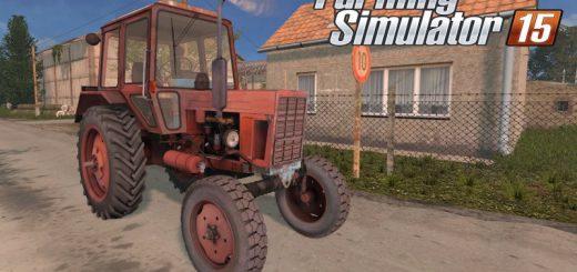 Русская техника для Мод трактор МТЗ-80 от SP для Farming Simulator 2015